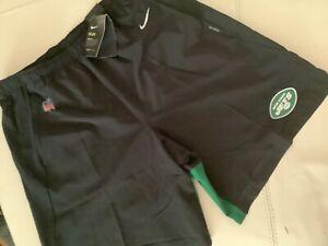 NWT New York Jets Nike Shorts Men's Black Green Dri-Fit Size XL