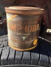 Tobacco Tin Green Douwe Egberts Amphora Holland Smoking Vintage Empty.