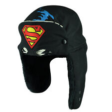 Superman Man Of Steel Printed Ear Flap Face Mask Clark Kent Cuffless Beanie Hat