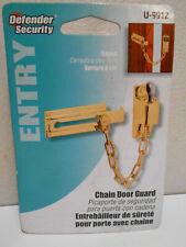 Defender Security Saftey Keyed Chain Door Guard Lock / Brass Plated U-9912