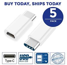 5pc LOT Micro USB to USB 3.1 Type C Adapter Converter Connector BULK Note S8