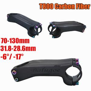 BALUGOE Carbon XC/AM MTB Road Bike Stem 6°/17° Tube 31.8mm 28.6mm Bicycle Stem