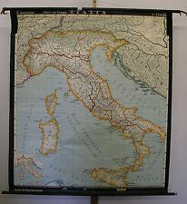 Schulwandkarte schöne alte Italien Italia Latein Roma 149x170cm 1968 vintage map