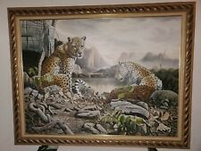 Two Leopards Art Work 36×48 size