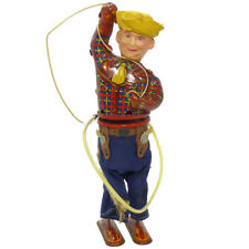 1950s RODEO COWBOY Tin Wind Up Toy by ALPS Rare!