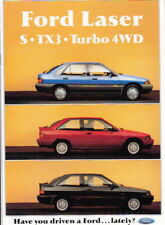 1991 FORD KF LASER S TX3 and TURBO 4WD 14p Australian Brochure - MAZDA 323