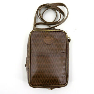 Mario Valentino Mini Messenger Crossbody Shoulder Bag in Brown - Made in Italy
