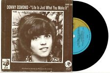 """DONNY OSMOND - THE TWELFTH OF NEVER - 7"""" 45 VINYL RECORD PIC SLV 1973"""