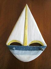 Wood Boat Nautical Wall Decor Coat Robe Bath Towel Hook Holder Distressed 11""