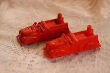 Lot of 2 Renwal No 145 Fire Dept Red Pumper Truck Plastic Vintage Toy