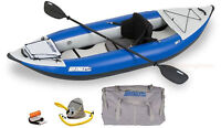 Sea Eagle 300x Pro Package Solo Explorer Kayak Class 4 Whitewater Self Bailing!
