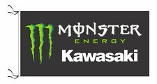 KAWASAKI MONSTER FLAG BLACK - SIZE 150x75cm (5x2.5 ft) - BRAND NEW