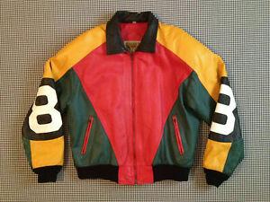 8 Ball Pool Seinfeld Michael Hoban MI Bomber Genuine Real Leather Jacket