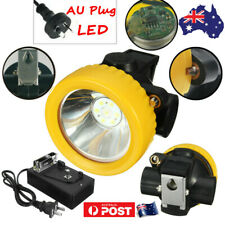 4500lux Miners Cordless Power LED Helmet Light Safety HEAD Cap Lamp Torch AUplug