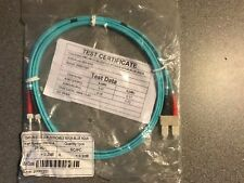 Brand New Sealed - 2m Aqua Blue Fibre Optic ST - SC Duplex MM Fibre Patch Cable