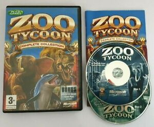 ZOO TYCOON 1 COMPLETE COLLECTION Pc Base Game + Dinosaur Digs & Marine Mania
