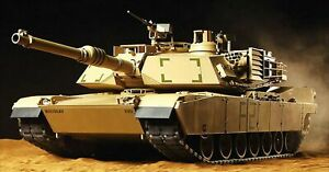 Tamiya 1/16 RC Tank American M1A2 Abrams Tank Full Operation Set length 615 mm