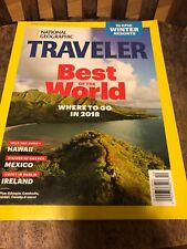 National Geographic Traveler Best Of The World Where To Go In 2018 January 2018