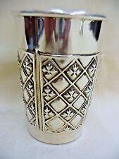 SABBATH KIDUSH CUP HANDMADE STERLING SILVER WITH GEOMETRIC DESIGNS AROUND