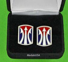 U.S. Army 11th Infantry Brigade Cuff Links & Gift Box Cufflinks