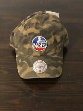 NJ Nets Camo Snapback Hat Mitchell & Ness
