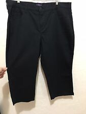 NYDJ NOT YOUR DAUGHTER'S JEANS 16W BLACK CROP STRETCH JEANS C440