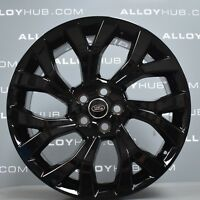 "GENUINE RANGE ROVER SPORT L494 STYLE 7001 21"" INCH GLOSS BLACK ALLOY WHEELS X4"