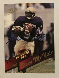 Steve McNair Houston Oilers 1995 Superior Pix Rookie Autograph /3000