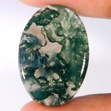 Latest Ultimate Natural Green Moss Agate Cab Loose Gemstone Cyber Bulk Variation