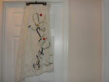 Legatte Off White Skirt  Asymmetrical bottom Made in Italy Excellent cond Size 6