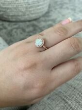 Opal Rose Gold Ring Size 7.5