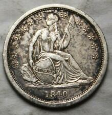 United States 1840 Silver Dime, Nice Grade, Seated Liberty