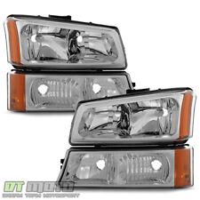 2003-2006 Chevy Silverado 1500 2500 Avalanche Headlights+Bumper Signal Lights