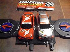 LOTE 88 COMPACT  1/43 Scalextrc  2 slot cars  +  Cuenta  Vueltas  (ver foto)
