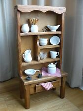 Rare & Unusual Vintage Arts & Crafts Solid Wood Childs Playing Welsh Dresser