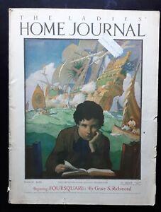 N. C. Wyeth Cover Art Ladies Home Journal 3/ 1922  Full Issue