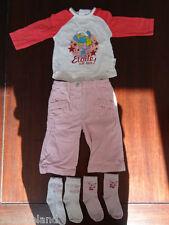 Ensemble fille 6 mois pantalon Tshirt manches longues et 2 paires de chaussettes
