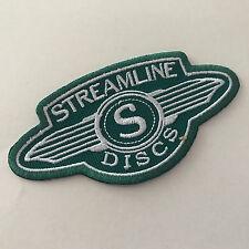Streamline Discs Iron On Patch Green/White Cloth disc golf Hyzer Farm