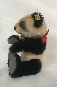 "RARE Vintage Steiff Panda Bear - Miniature 6"" (15cm) Moving arms, legs, and head"