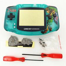Zelda Link Sword Clear Green Shell Case Housing for Nintendo Game Boy Advance
