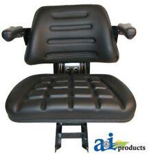 Black Vinyl Seat for Mahindra Tractor Models 4500 5500 6000 6500