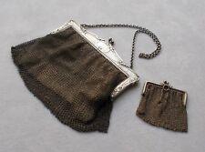 *RAR* Jugendstil Theatertasche / Kettentasche mit Geldbörse aus 800er Silber