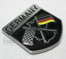 GERMAN FLAG RACING CAR BADGE VW GOLF GTI RS4 BMW 3 5 SERIES CLASSIC CHEQUERED
