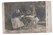 1917 Moscow Russia RPPC Postcard Cover to Petrograd Old woman Little Boy