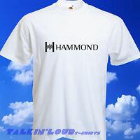 HAMMOND ORGAN T SHIRT - Juno Moog keyboard Korg Yamaha Roland