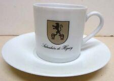 B&C LIMOGES-FRANCE-BERNARDAUD LIMOGES-COFFEE CUP & SAUCER-VINTAGE