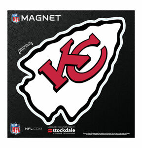 """KANSAS CITY CHIEFS 6""""X6"""" DIE-CUT MAGNET FOR INDOOR OR OUTDOOR USE HIGH QUALITY"""