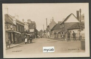 Postcard Amesbury nr Salisbury Wiltshire the High Street village detail early RP