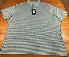 Roundtree & Yorke Men's Performance Polo Shirt 3XLT 3X Tall Blue NWT
