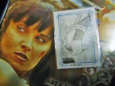 "XENA* WARRIOR PRINCESS* ARTS & IMAGES* ""ARM in CHAKRAM"" card HAND DRAWN MINT!!"